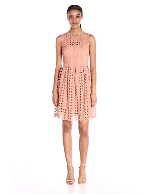 553526fd012 Amazon.com  Cynthia Rowley Women s Fit-and-Flare Dress  Clothing