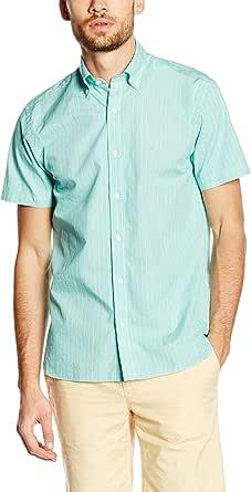 Pedro del Hierro Camisa Hombre Verde Agua L: Amazon.es: Ropa