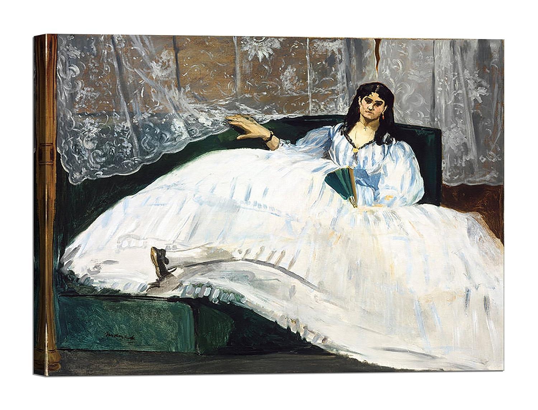 Bild auf Leinwand mit Keilrahmen aus Holz Édouard Manet Woman with a fa 120x90 CM B0789BK75L | 2019