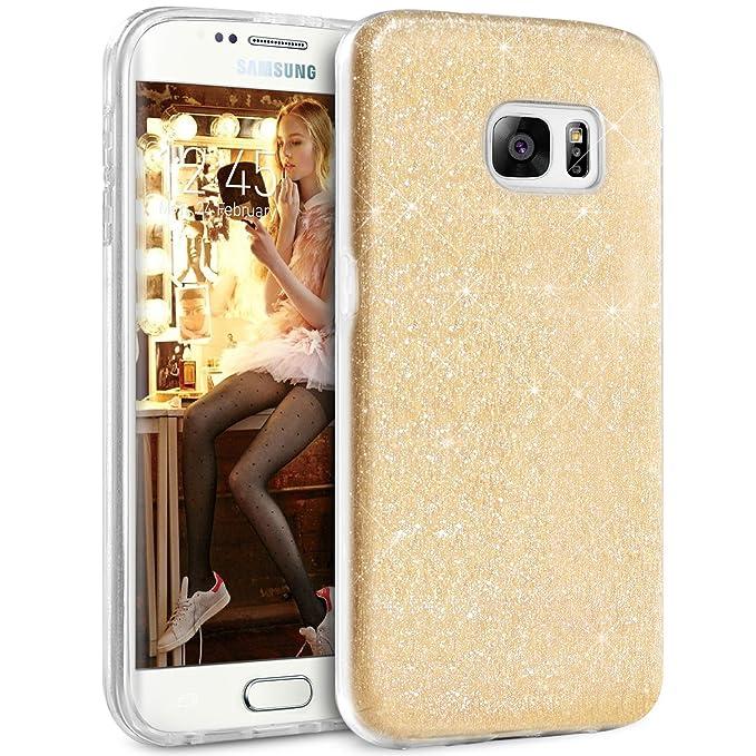 8 opinioni per Cover S7 Edge Samsung, TheBlingZ.® Custodia S7 Edge Glitter, Cover Sparkle