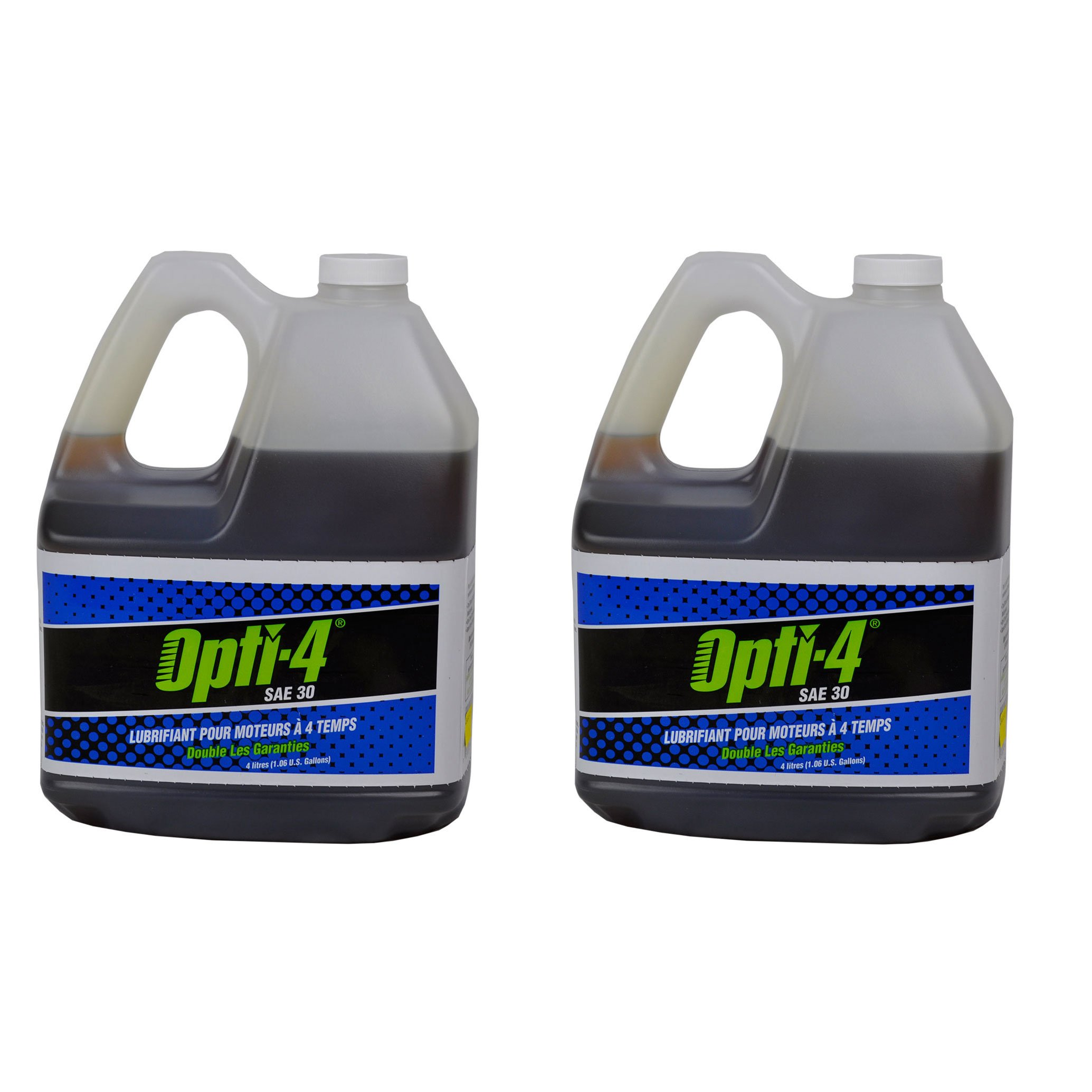 Opti-4 43444 1 Gallon SAE 30W 4-Cycle Engine Lubricant for up to 31 HP, 2-Pack