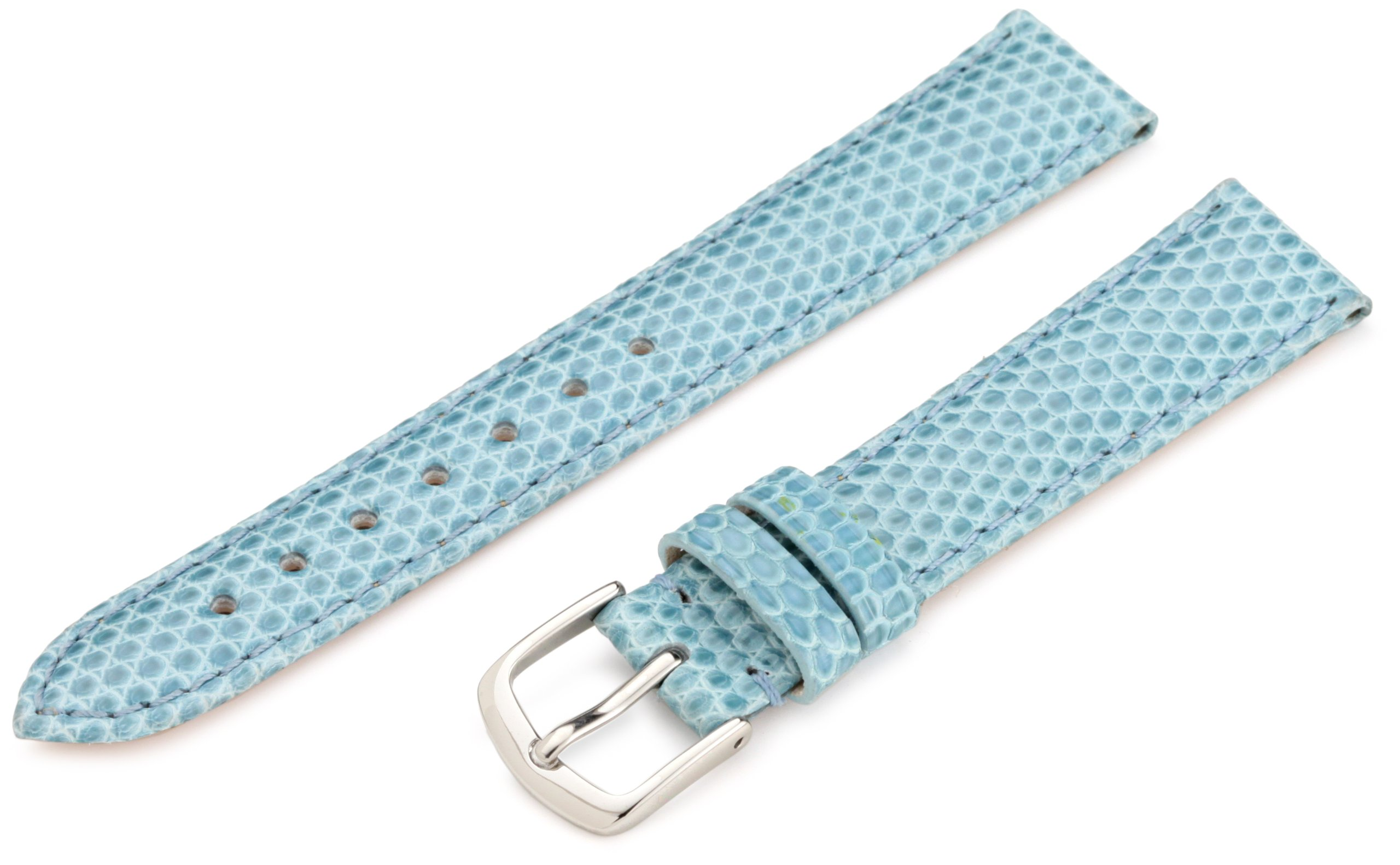 Hadley-Roma Women's LSL715RG 160 16-mm Blue Genuine Java Lizard Watch Strap