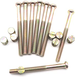 M8 x 90mm Bed Bolt Crib Screws, binifiMux 8 Set Zinc Plated Hex Drive Socket Cap Furniture Barrel Screws Bolt Nuts