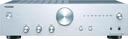 Color Plata Amplificador esterero Integrado Onkyo A-9010-S 44 W por Canal, 5 entradas anal/ógicas y 1 Salida, 2 entradas Digitales
