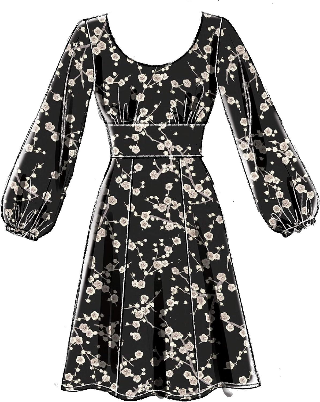 Sizes 14-22 White 14-16-18-20-22 McCalls Patterns McCalls Womens Open Neckline Dress Sewing Patterns