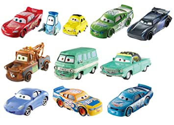 Amazon Com Disney Pixar Cars 3 Die Cast Vehicle 10 Pack Toys Games