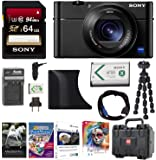 Sony DSC-RX100M5 Cyber-shot Digital Camera w/ AGR2 Grip & 64GB Accessory Bundle