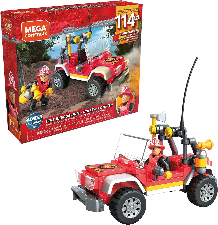 Mega Construx SUV Rescate, construye tu propio SUV y escenas de rescate, coche de juguete (Mattel GLK53): Amazon.es: Juguetes y juegos