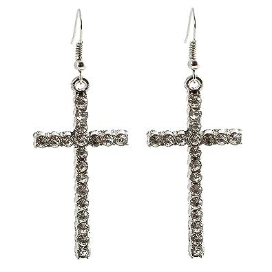 e1a6c90a4a1e geralin Gioielli - Pendientes plata cruz pendientes brillantes Fashion   Amazon.es  Joyería