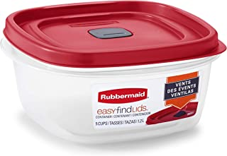 product image for Rubbermaid Easy Find Lids 5-Cup Food Storage and Organization Container, Racer Red