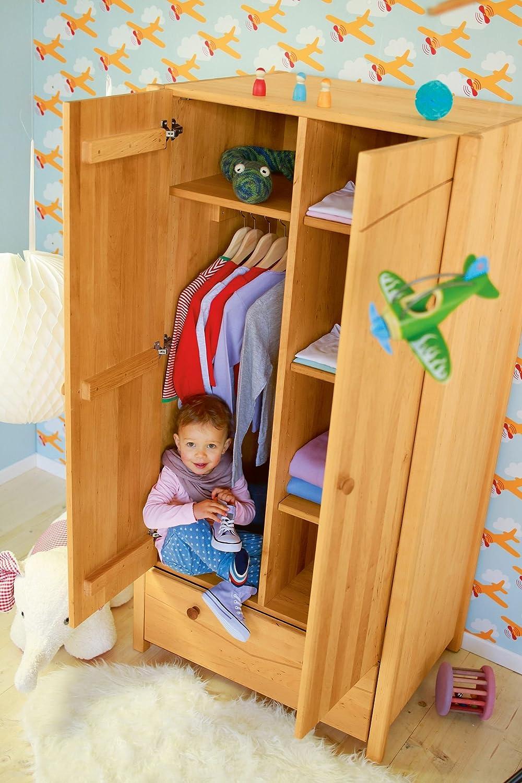 Precio por piso BioKinder 22157 22157 22157 Armario Luca 165x80x60 cm, madera sostenibile  precios mas bajos
