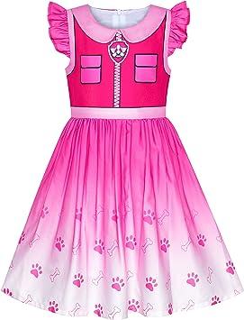 Sunny Fashion Vestido para niña Patrulla Canina de la Pata Skye ...