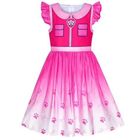 Sunny Fashion Vestido para niña Patrulla de la Pata Skye Disfraz ...