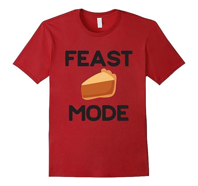 0674cb4f Mens Feast Mode Thanksgiving Fun Turkey Trot Pumpkin Pie Shirt 2XL Cranberry