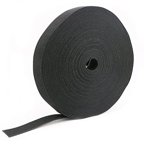 fcf2c2caee2c Image Unavailable. Image not available for. Color: Pasow fastening tape  Cable Tie Double Side Nylon Power Wire Management 1.5Inch 1 Roll Hook