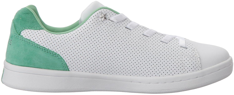 Skechers Women's Darma-Perforated Leather Sneaker B0742SH7VK 7 B(M) US|White Mint