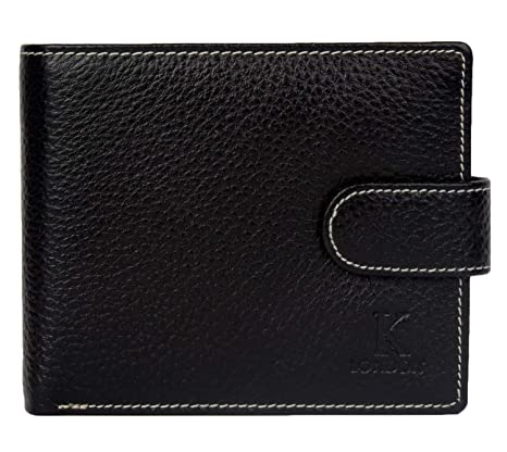 K London Leather Black Men's Wallet Wallets