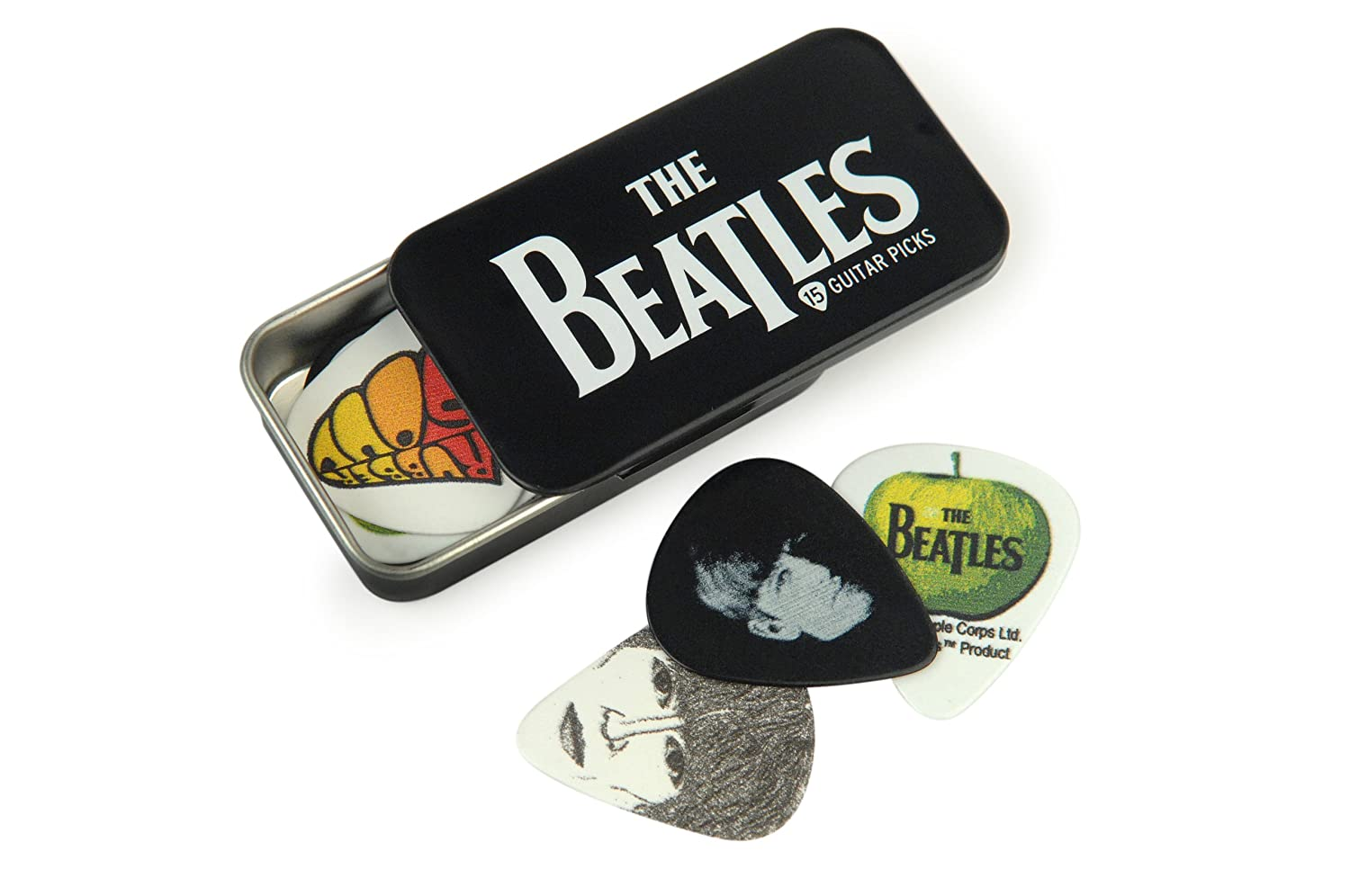 Amazon.com: Planet Waves Beatles Signature Guitar Pick Tins, Logo ...