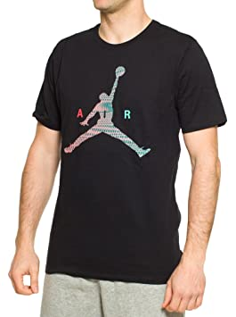 a75ec5036268b5 Nike Mens Jordan Air Jumpman T-Shirt Black Infrared 23 789632-010 Size  X-Large