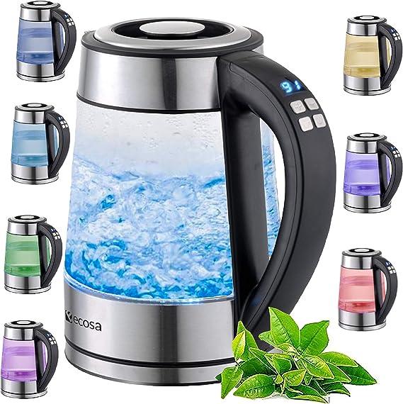 ETA CRYSTELA 6153 Glas-Wasserkocher Heißwasser Teekocher Kabellos 1,7 Liter