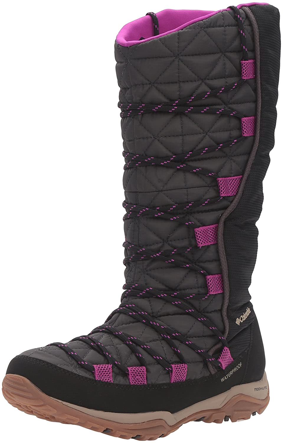 Columbia Women's Loveland Omni-Heat Snow Boot B0183NZ0N2 7 B(M) US|Shark/Bright Plum