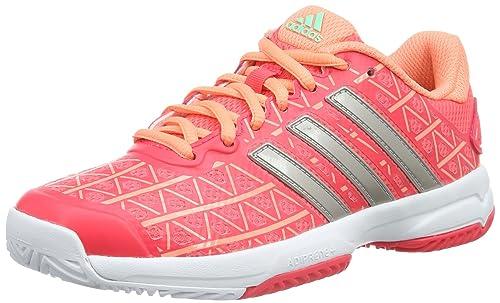 on sale eea76 38bcd adidas Barricade Club XJ, Zapatillas de Tenis Unisex niños, RojoGris  (RojimpMetplaBrisol), 32 EU Amazon.es Zapatos y complementos
