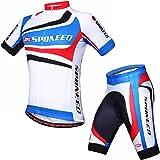 sponeed Men's Cycling Shirt and Pants Padded Bike Wear Tights