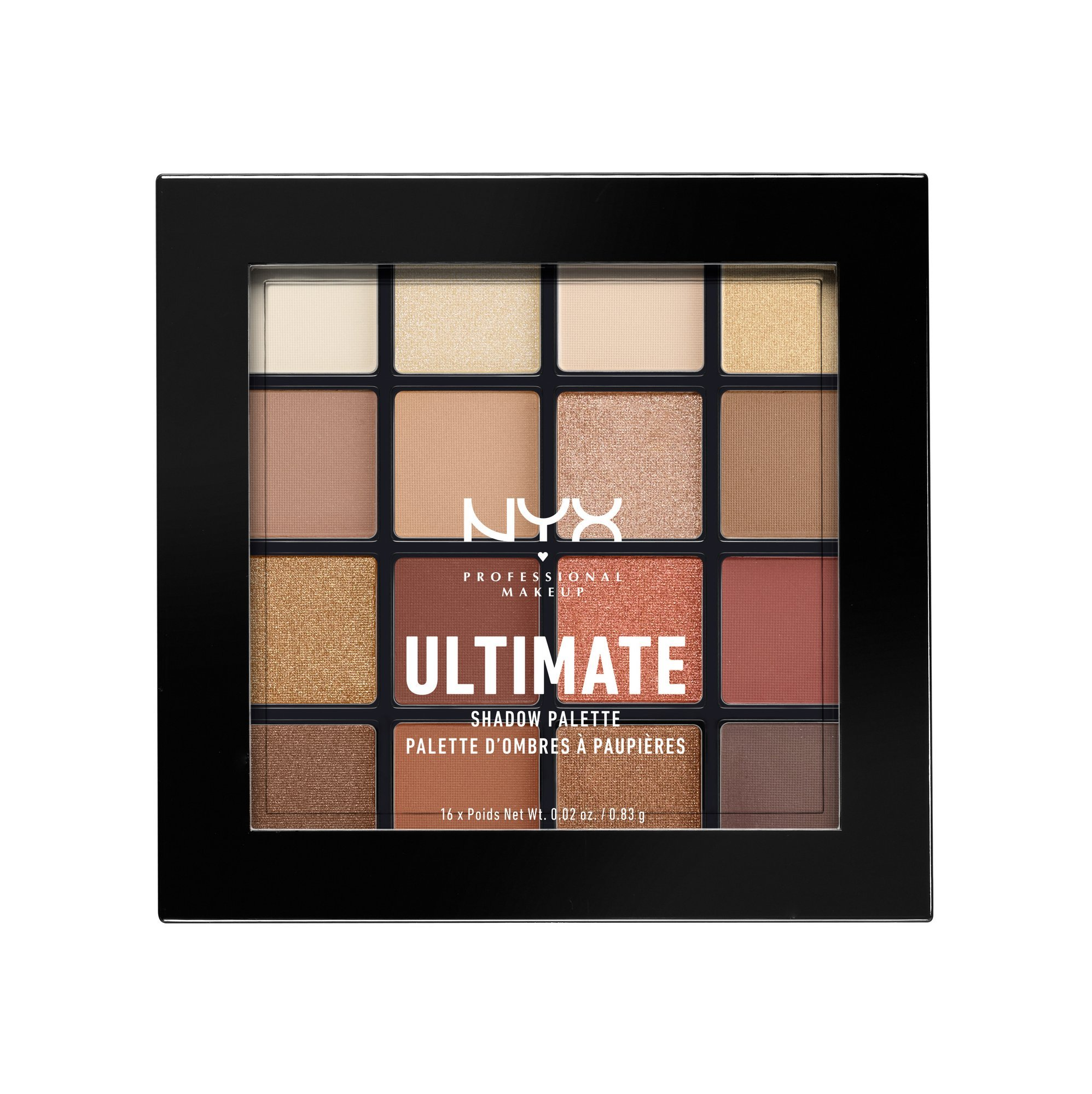NYX PROFESSIONAL MAKEUP Ultimate Shadow Palette, Warm Neutrals, 0.02 oz/0.83 g by NYX