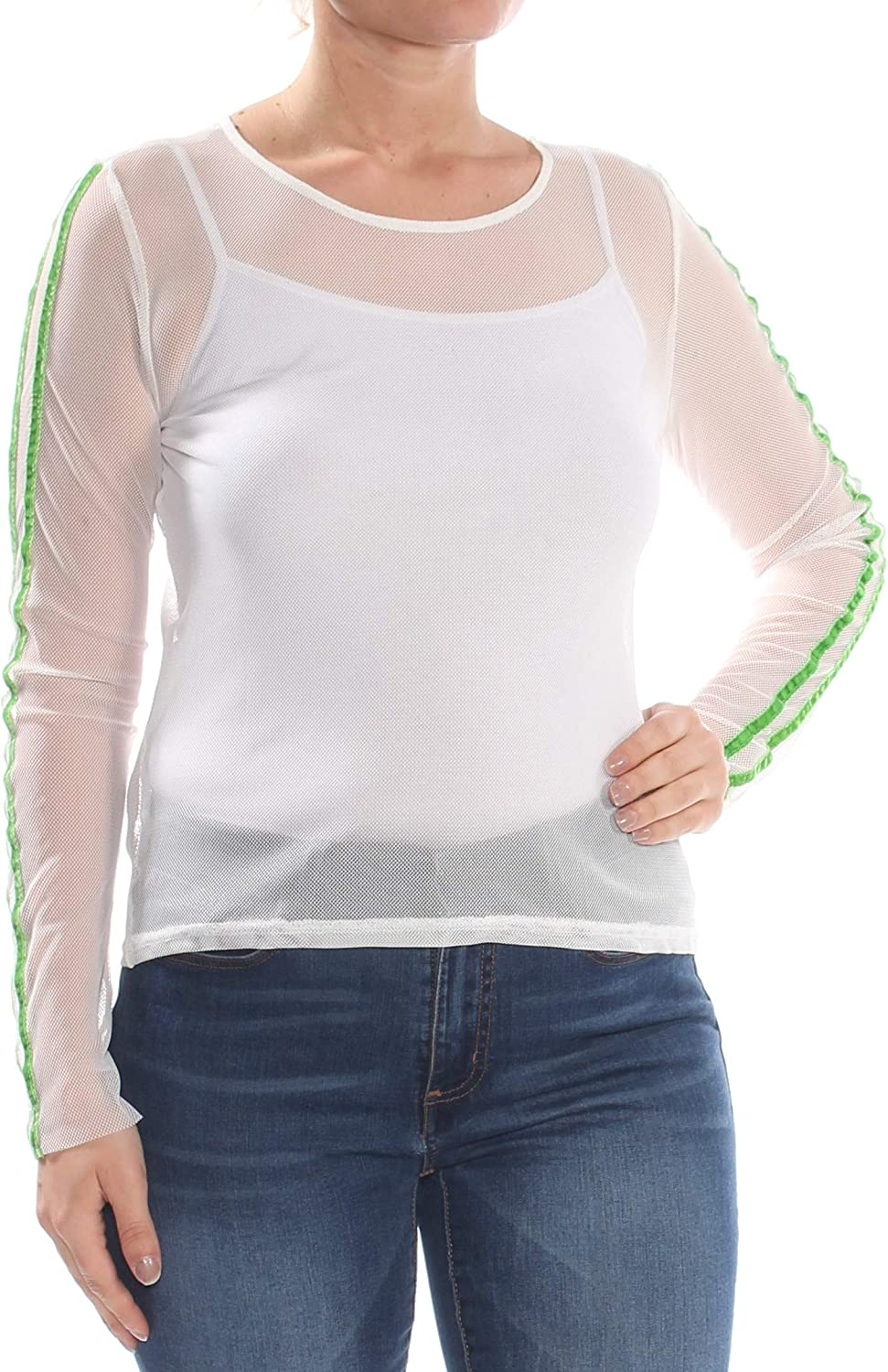Project 28 Womens Mesh Pullover Blouse