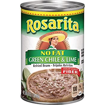 Rosarita No Fat Refried Beans with Green Chile and Lime