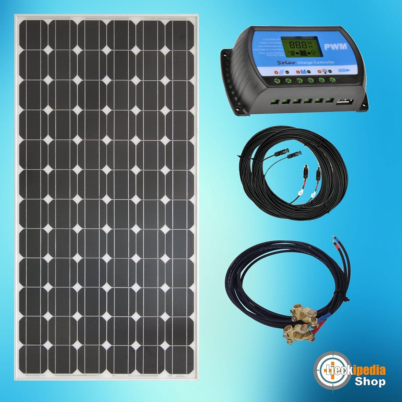 195 Watt 12Volt Solar Bausatz Solaranlage Inselanlage Basis Set Garten Camping