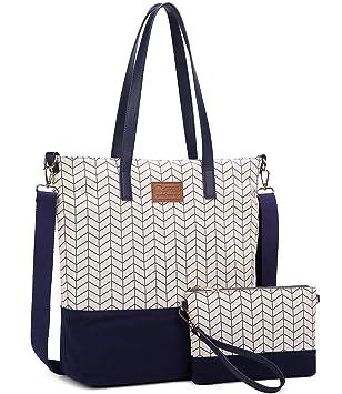 52ad15e96dfd7 Myhozee Canvas Handtasche Damen Tasche Schultertasche Casual Henkeltaschen Handtaschen  Shopper Shopping Bag Umhängetasche Elegant für Alltag