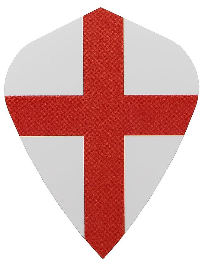 /5er-/oder 10er-Sets England-Flagge Drachenform Dart-Flights/