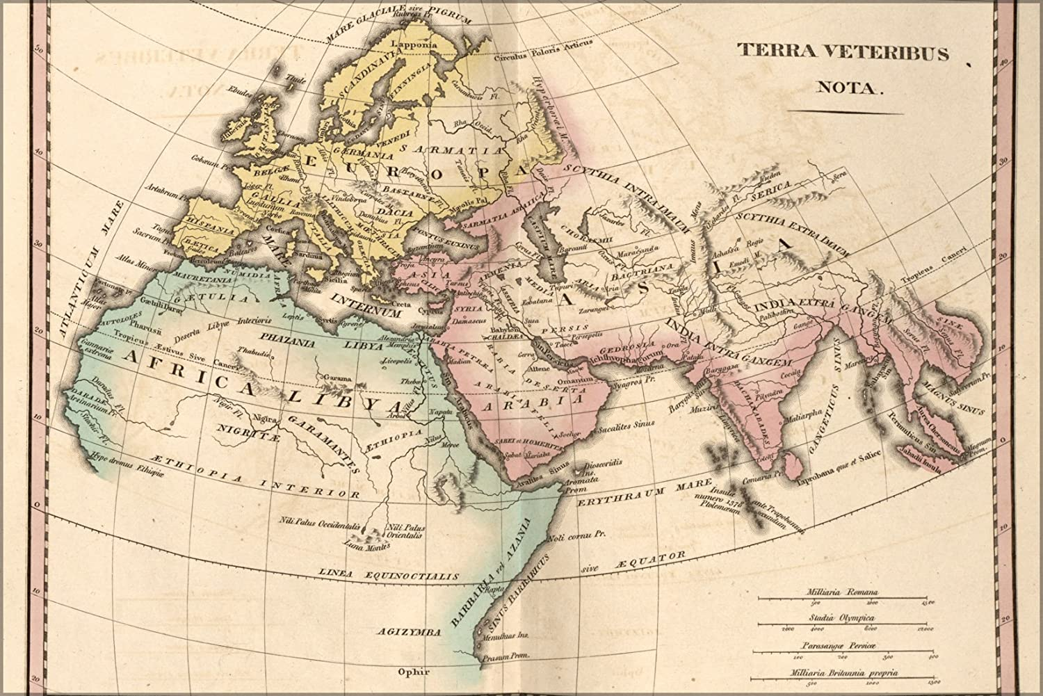 Amazon Com 20x30 Poster Map Of Ancient Europe Asia Africa 1826