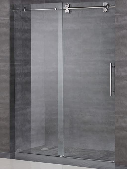 Frameless Shower Door Hardware Kit//Glass Not Included//Polished Chrome Finish AquaLine IV Series 6 Feet Rail Length