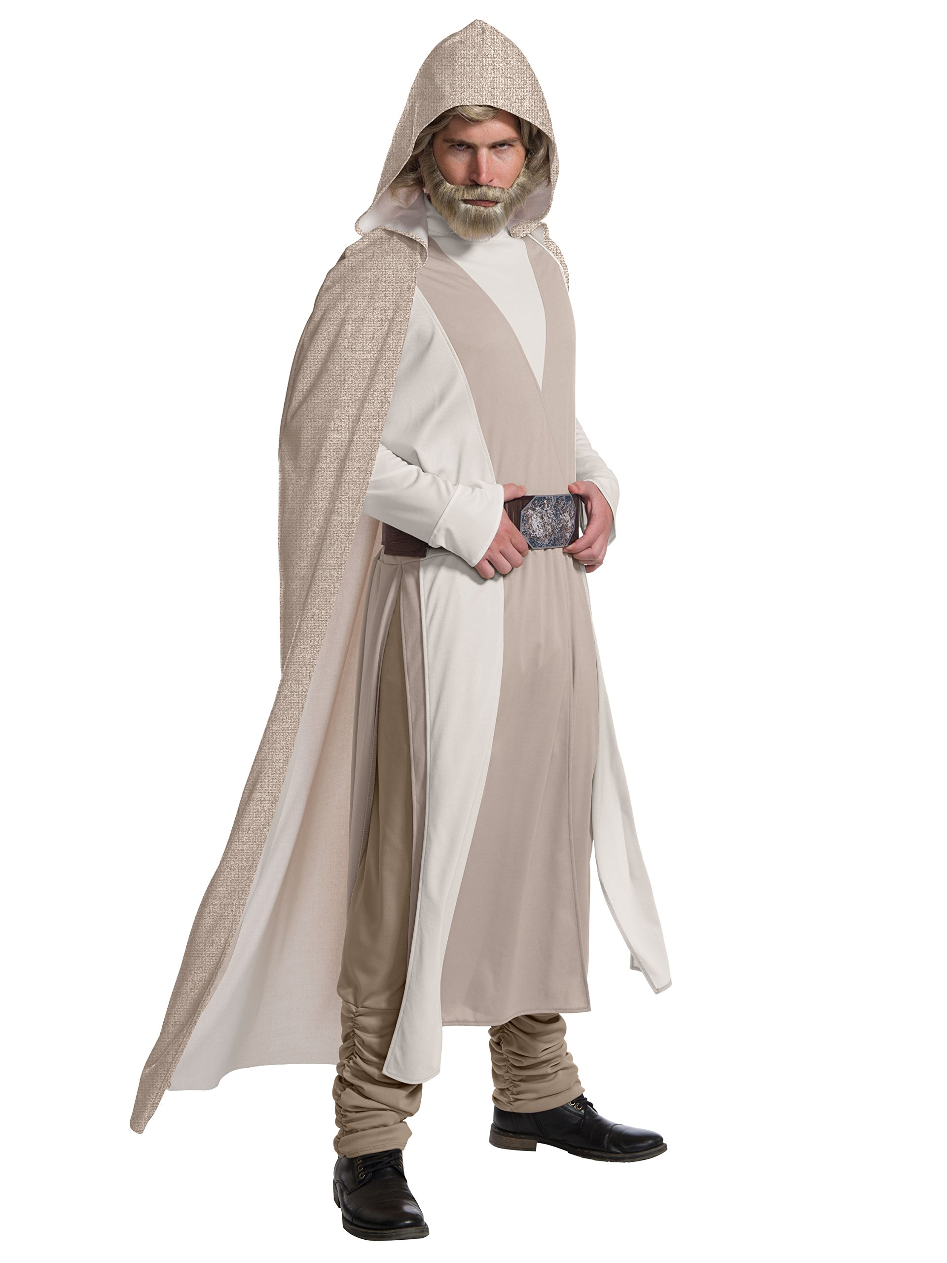 Rubie's Star Wars Episode VIII: The Last Jedi Men's Deluxe Luke Skywalker Costume  Beige  Standard