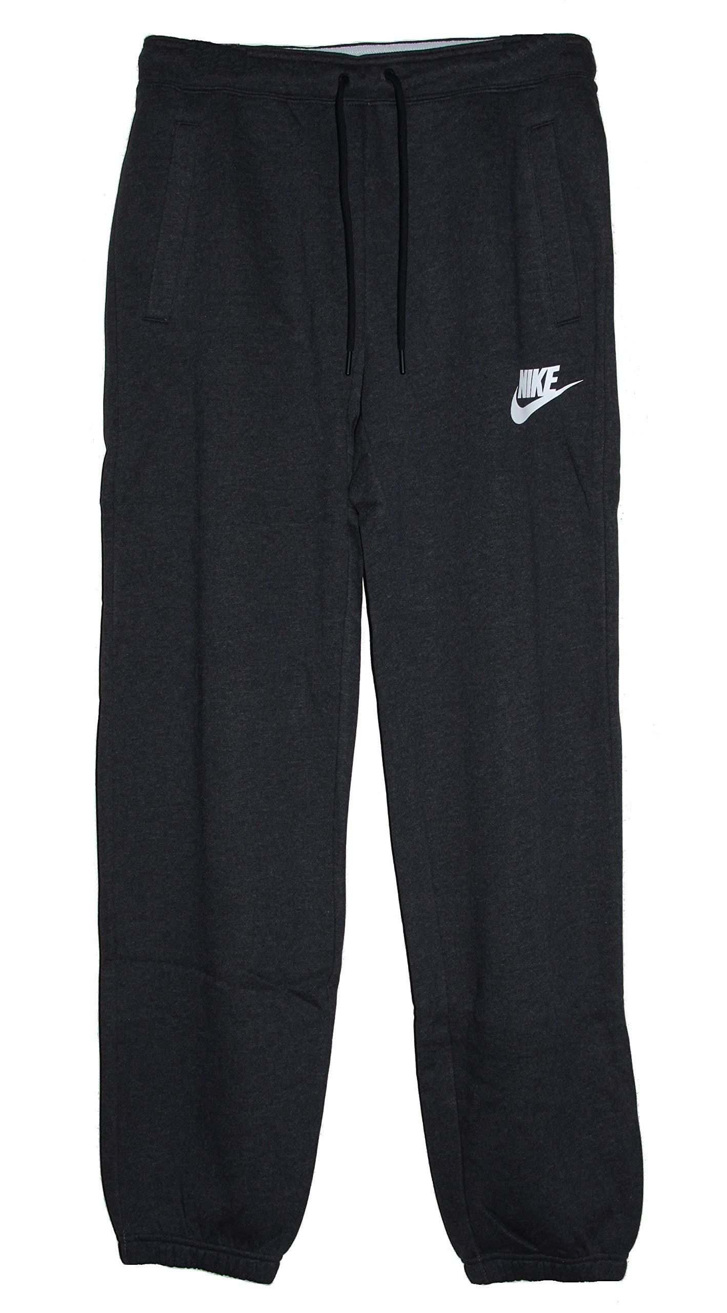 Nike Sportswear Rally Loose Women's Fleece Pants (Black Heather/White, Small)