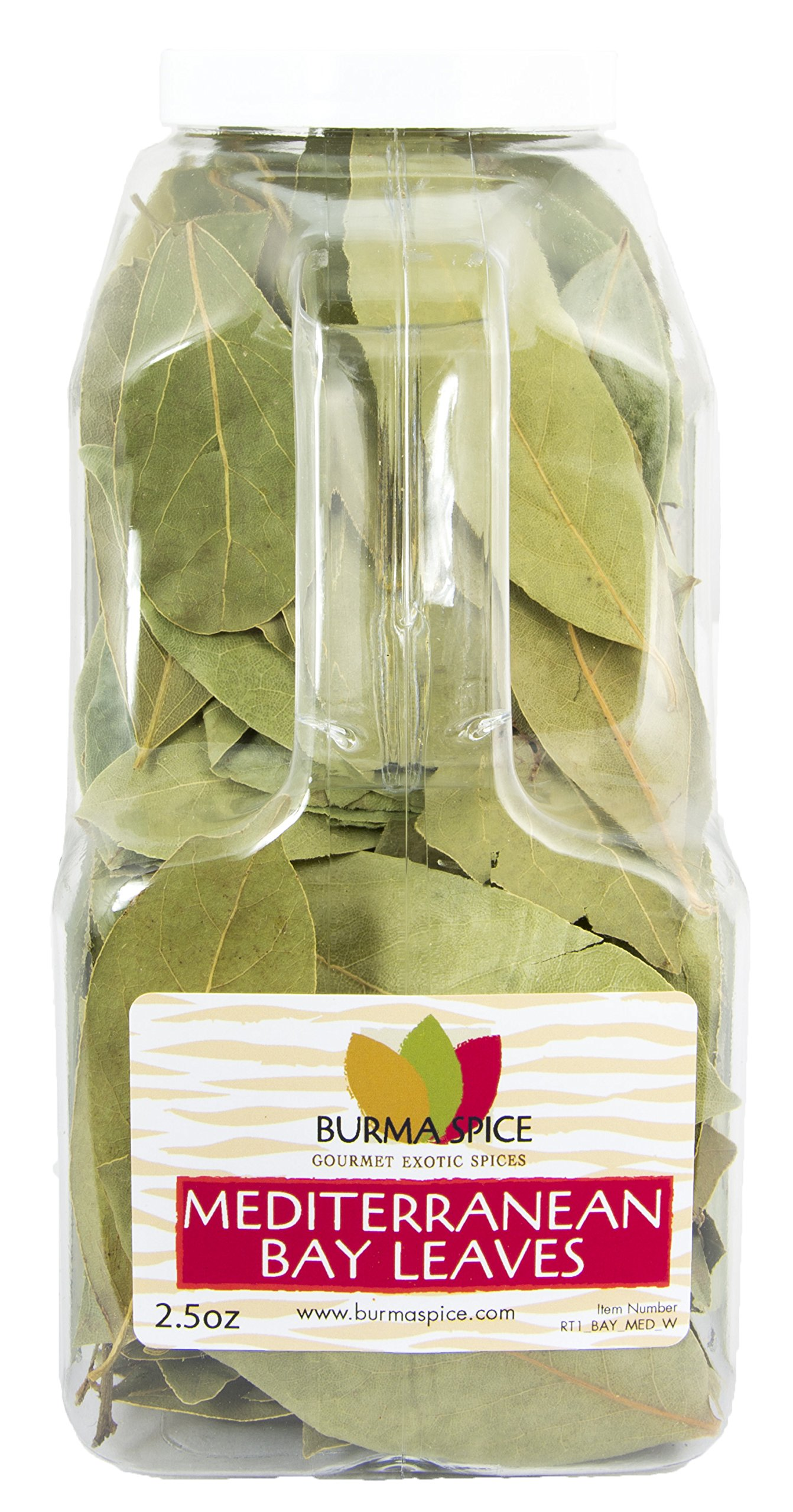 Mediterranean Bay Leaves : Laurel Leaf : Dried Herb Kosher 2.5oz. by Burma Spice (Image #1)