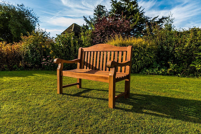 Kingfisher Heavy Duty Teak Bench Outdoor Garden Furniture Flat Packed