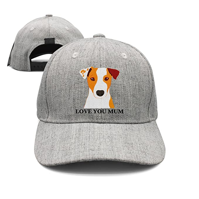 a33acadd6e8 SJSNBZ Jack Russell Terrier Dog  Love You Mum  Coffee Graphic Unisex Adult  Womens Wool Golf Caps at Amazon Men s Clothing store