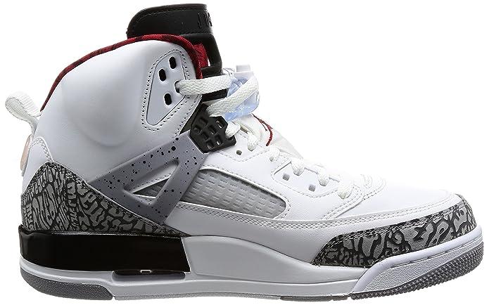 new style 9733f 4db29 Amazon.com   Jordan Spizike Mens Basketball Shoes White Grey Black Varsity Red  315371-122 (8 D(M) US)   Basketball