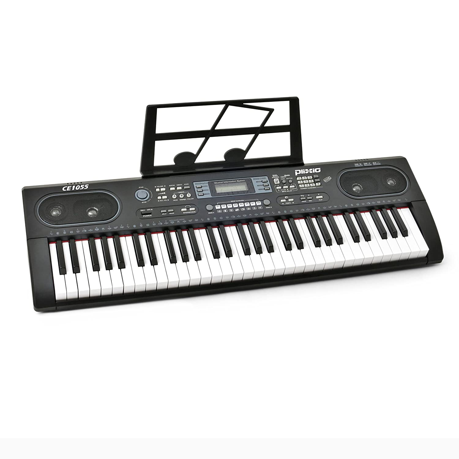 Plixio 61 Key Electronic Keyboard Piano with LED Display, Stereo & USB Input- Portable Music Keyboard 4334320131