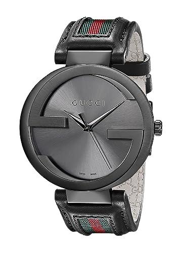 Gucci YA133206 - Reloj de pulsera hombre, piel, color: Amazon.es: Relojes