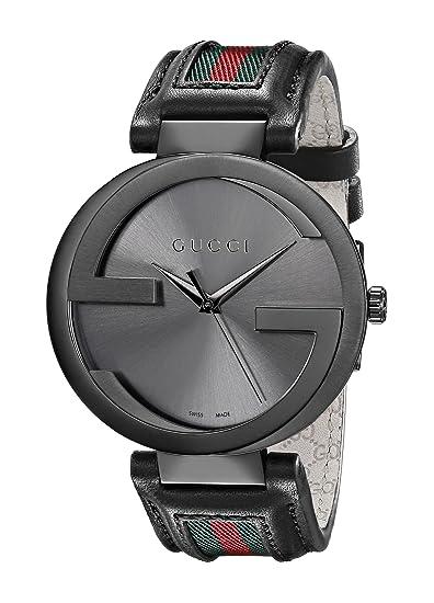 c8f51050a6 Gucci YA133206 - Reloj de Pulsera Hombre, Piel, Color: Amazon.es: Relojes