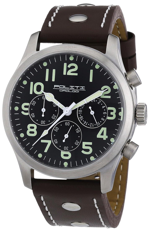 POLITI OROLOGI Herren Armbanduhr Chronograph OR2831-brown