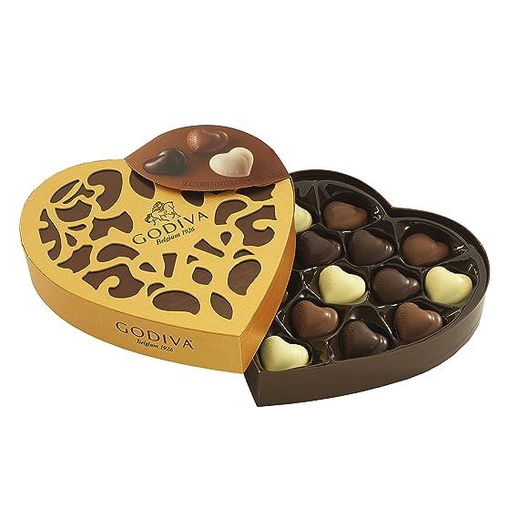 Godiva, Coeur Iconique bombones surtidos caja regalo corazón 14 piezas, 150g