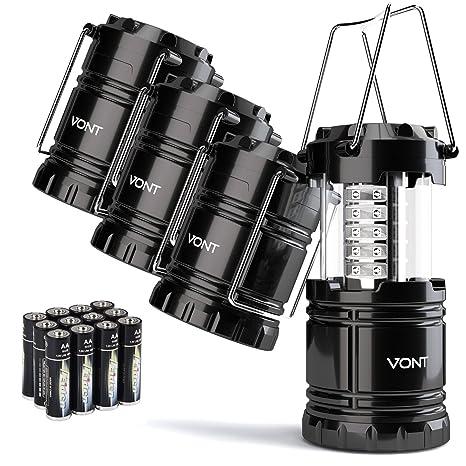Vont 4 Pack LED Camping Lantern, Survival Kit For Hurricane, Emergency,  Storm,