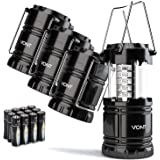 Vont 4 Pack LED Camping Lantern, LED Lantern, Suitable for Survival Kits for Hurricane, Emergency Light, Storm, Outages, Outd