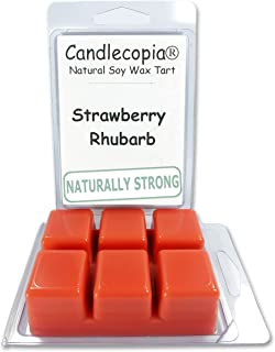 product image for Candlecopia Strawberry Rhubarb Strongly Scented Hand Poured Vegan Wax Melts, 12 Scented Wax Cubes, 6.4 Ounces in 2 x 6-Packs