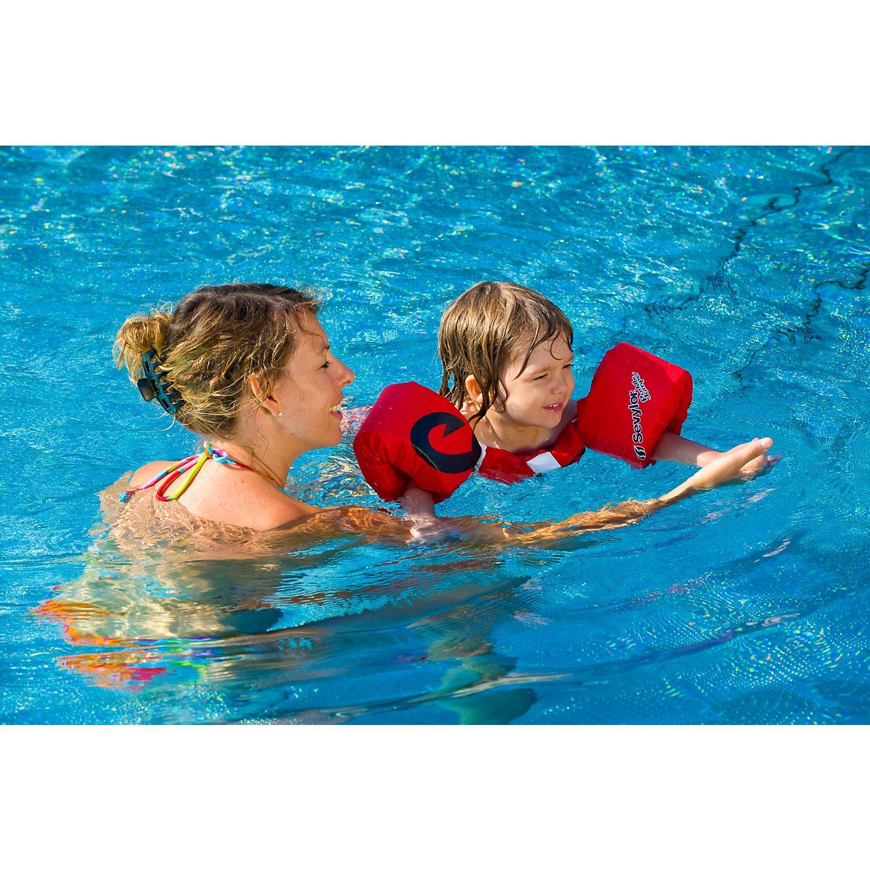 Sevylor Pirata Flotador, Manguitos bebé para Aprender a Nadar, Chaleco Salvavidas el complemento Ideal para niños de 2 a 5 años, Rojo, de 15 a 30 kg de ...